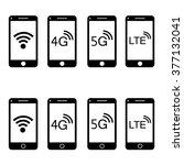 modern touch screen smartphone...   Shutterstock .eps vector #377132041