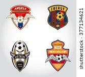 set of soccer badge logo .... | Shutterstock .eps vector #377134621