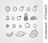 fruits icons   Shutterstock .eps vector #377136337