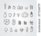 vegetables icons | Shutterstock .eps vector #377136979