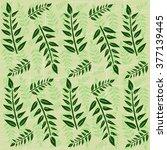 leaves background | Shutterstock .eps vector #377139445