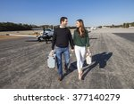 trendy young couple walking... | Shutterstock . vector #377140279