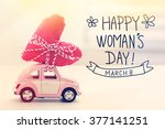 womans day message with... | Shutterstock . vector #377141251