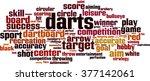 darts word cloud concept.... | Shutterstock .eps vector #377142061