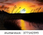 Painting Pastel Of A Sunset At...