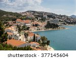 neum  bosnia and herzegovina  a ... | Shutterstock . vector #377145604