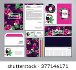corporate identity templates in ... | Shutterstock .eps vector #377146171