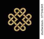 celtic knot made from...   Shutterstock .eps vector #377146345