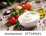 Homemade Mayonnaise Sauce In A...