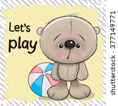 cute bear with a ball on a...