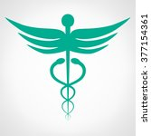caduceus medical symbol. emblem ... | Shutterstock .eps vector #377154361