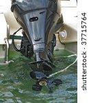 boat propeller - stock photo