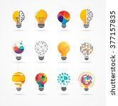 light bulb   idea  creative ... | Shutterstock .eps vector #377157835