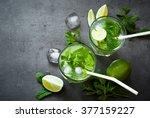 tradition summer drink mojito... | Shutterstock . vector #377159227