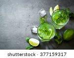 tradition summer drink mojito... | Shutterstock . vector #377159317