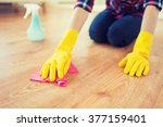 people  housework and... | Shutterstock . vector #377159401