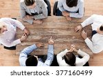 business  people and team work... | Shutterstock . vector #377160499