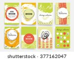 template. set of trendy posters ... | Shutterstock .eps vector #377162047