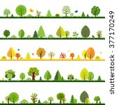 trees borders  | Shutterstock . vector #377170249
