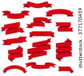red web ribbons set | Shutterstock . vector #377170459