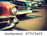 classic cars in a row | Shutterstock . vector #377172625