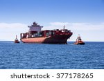 container cargo ship on the