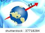 illustration of arrow in globe  ... | Shutterstock . vector #37718284