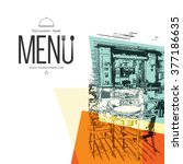 restaurant menu design. vector... | Shutterstock .eps vector #377186635