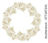 vector decorative line art... | Shutterstock .eps vector #377187241