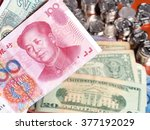 Chinese Yuan Note In Front Of...