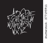 handwritten grunge scratch type ... | Shutterstock .eps vector #377195911