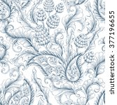 seamless vector floral... | Shutterstock .eps vector #377196655
