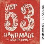 vintage college for apparel | Shutterstock .eps vector #377209201