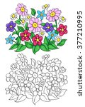 coloring book or page with... | Shutterstock .eps vector #377210995