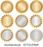 set of isolated badges   design ... | Shutterstock .eps vector #377215969