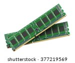 ddr ram memory module isolated...