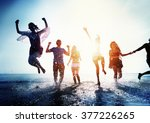 friendship freedom beach summer ... | Shutterstock . vector #377226265