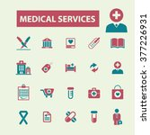 medical and health care icons  | Shutterstock .eps vector #377226931