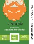leprechaun or irish man with... | Shutterstock .eps vector #377228761
