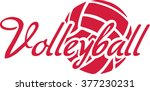 volleyball word with ball | Shutterstock .eps vector #377230231