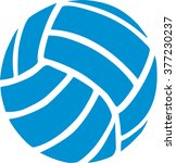 blue volleyball icon | Shutterstock .eps vector #377230237
