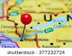 Nagykanizsa pinned on a map of Hungary