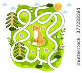 maze game. educational children ... | Shutterstock .eps vector #377233261