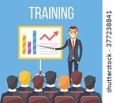 training staff  business... | Shutterstock .eps vector #377238841