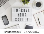 improve your skills word on... | Shutterstock . vector #377239867