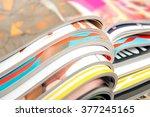stack of magazines | Shutterstock . vector #377245165