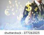 businessman with financial... | Shutterstock . vector #377262025