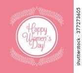 happy womens day design  | Shutterstock .eps vector #377273605