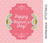 happy womens day design  | Shutterstock .eps vector #377273611