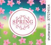 spring season design  | Shutterstock .eps vector #377274514